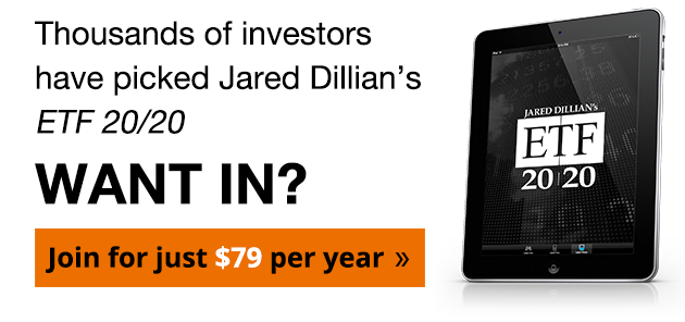 Thousands of investors have picked Jared Dillian's ETF 20/20. Want In? Join Now for just $79 per year.