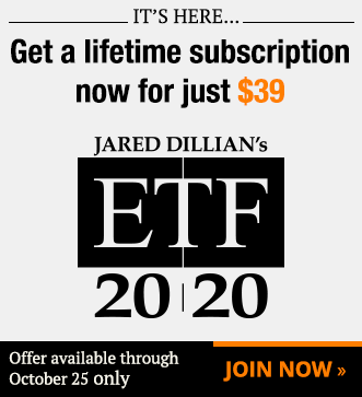 Get a lifetime subscription now for just $39 - Jared Dillian's ETF 20/20 - Join Now