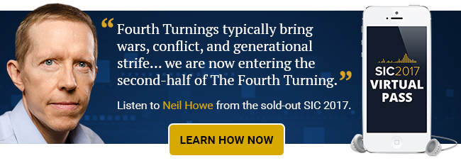 Listen to Neil Howe from the sold-out SIC 2017.