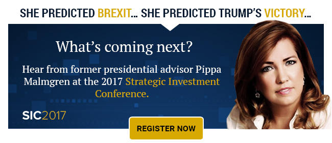 Hear from former presidential advisor Pippa Malmgren at the 2017 Strategic Investment Conference - Register Now