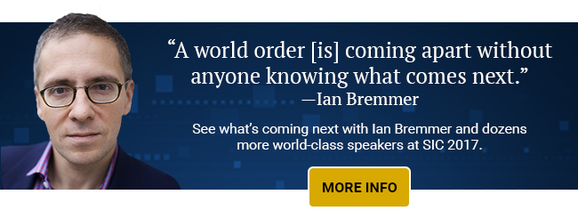 A world order [is] coming apart without anyone knowing what comes next - Ian Bremmer